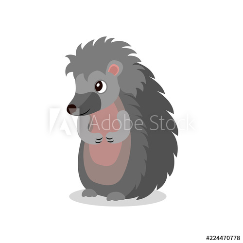 Hedgehog clipart two animal. Cute standing on legs