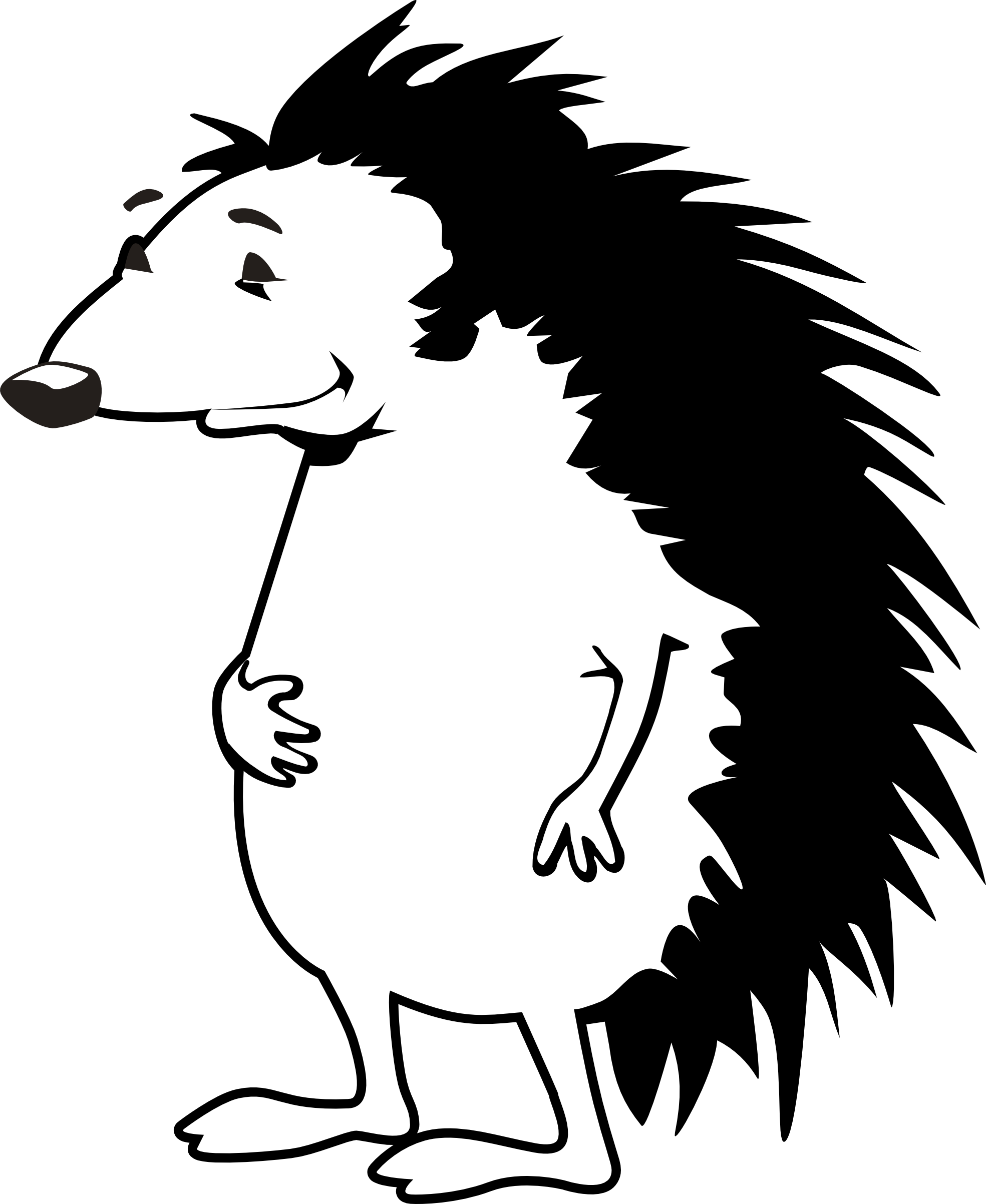Hedgehog clipart two animal. Panda free images