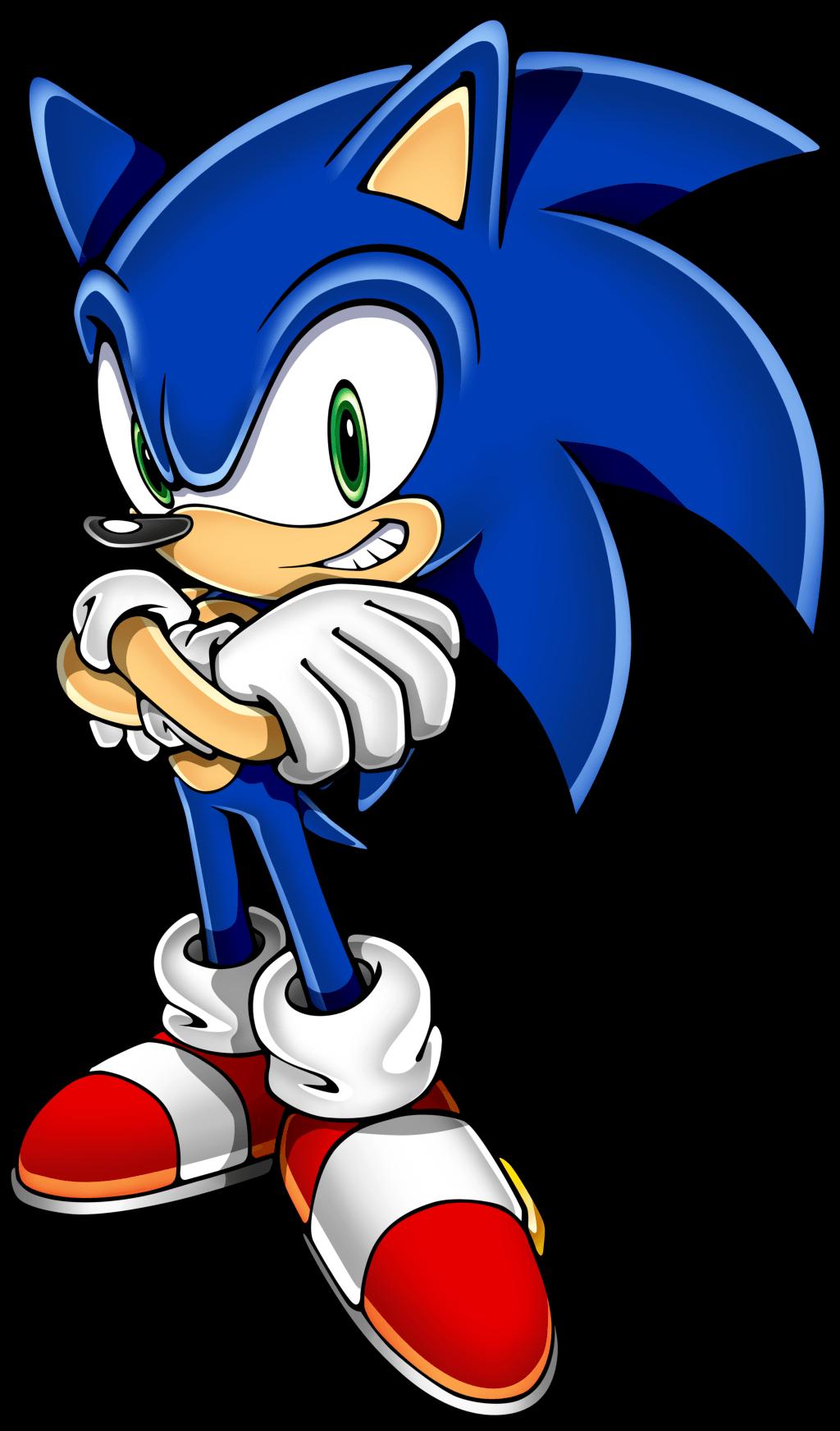 Sonic standing blue transparent. Hedgehog clipart vector