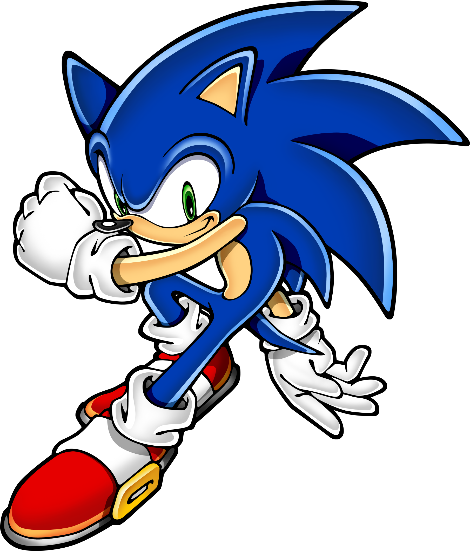 Sonic the game character. Hedgehog clipart vector