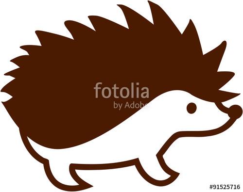 Hedgehog clipart vector. Cartoon style stock image