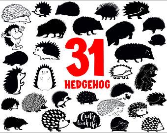 Hedgehog clipart vector. Etsy