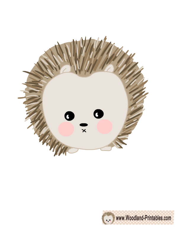 Hedgehog clipart woodland. Free printable animals wall