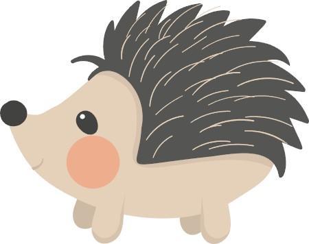 Cutter set . Hedgehog clipart woodland animals