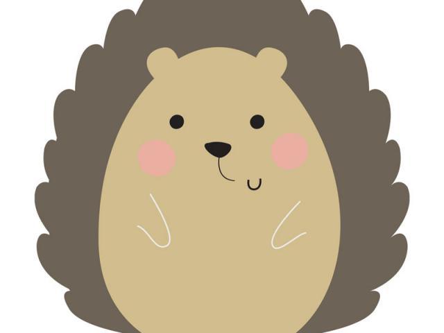 Hedgehog clipart woodland creature. Free download clip art