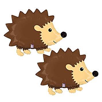 Hedgehog clipart woodland. Set of foil party