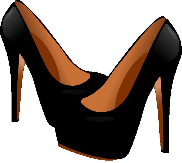 Black high clip art. Heels clipart