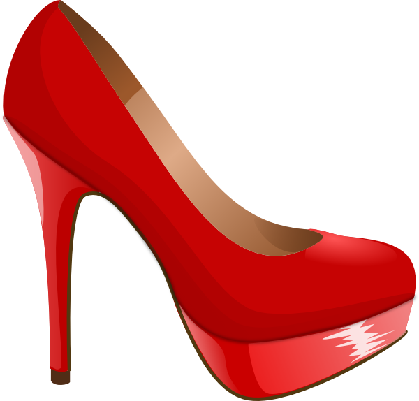 Converse clipart shoesclip. High heel svg red