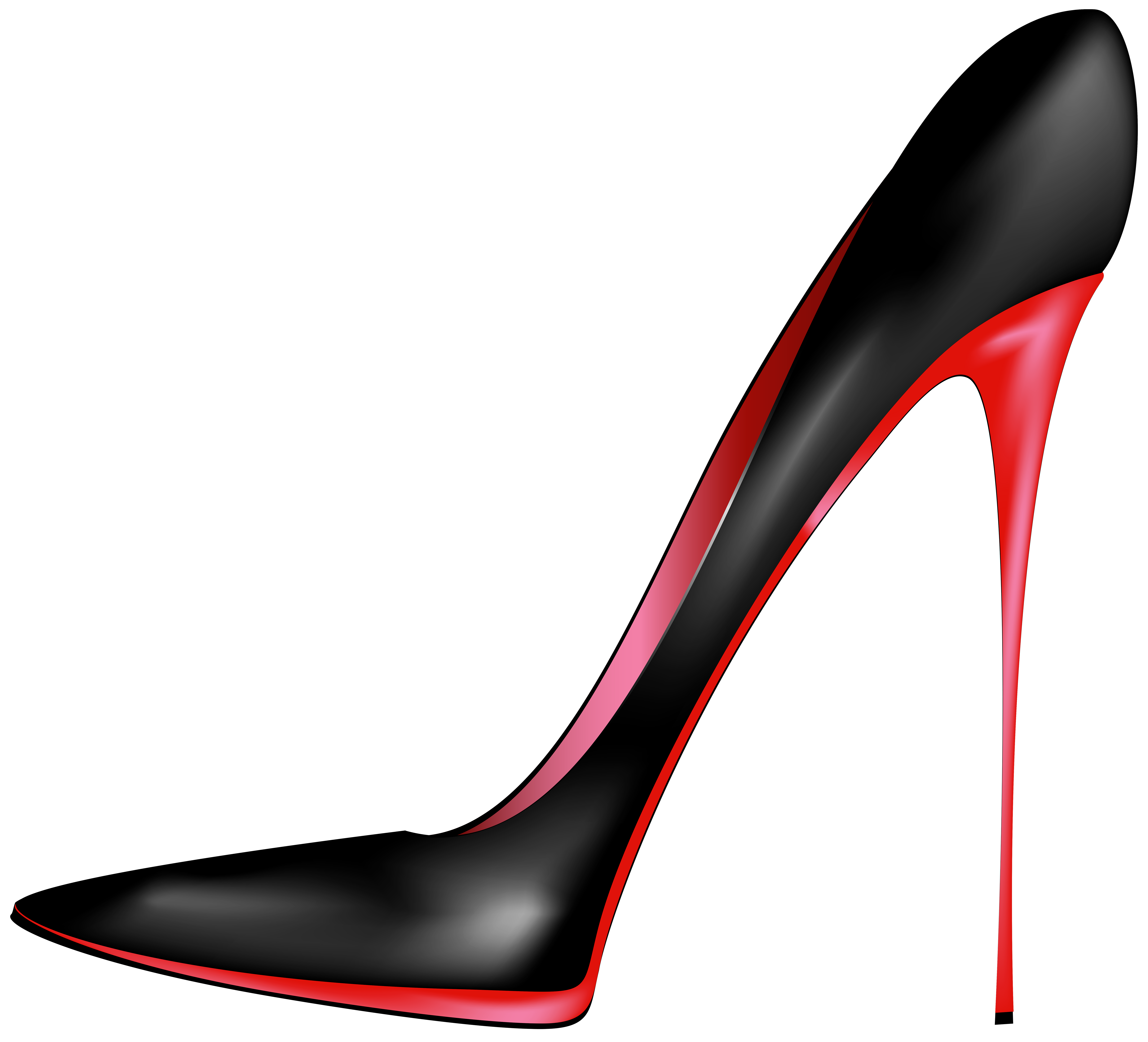 Heels clipart. Black red high png