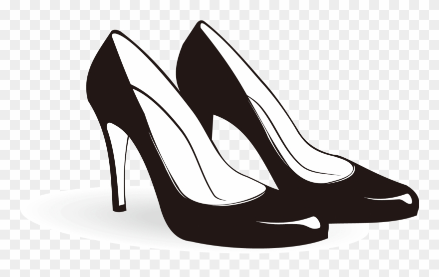 Shoe high heeled footwear. Heels clipart