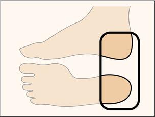 Clip art parts of. Heels clipart body