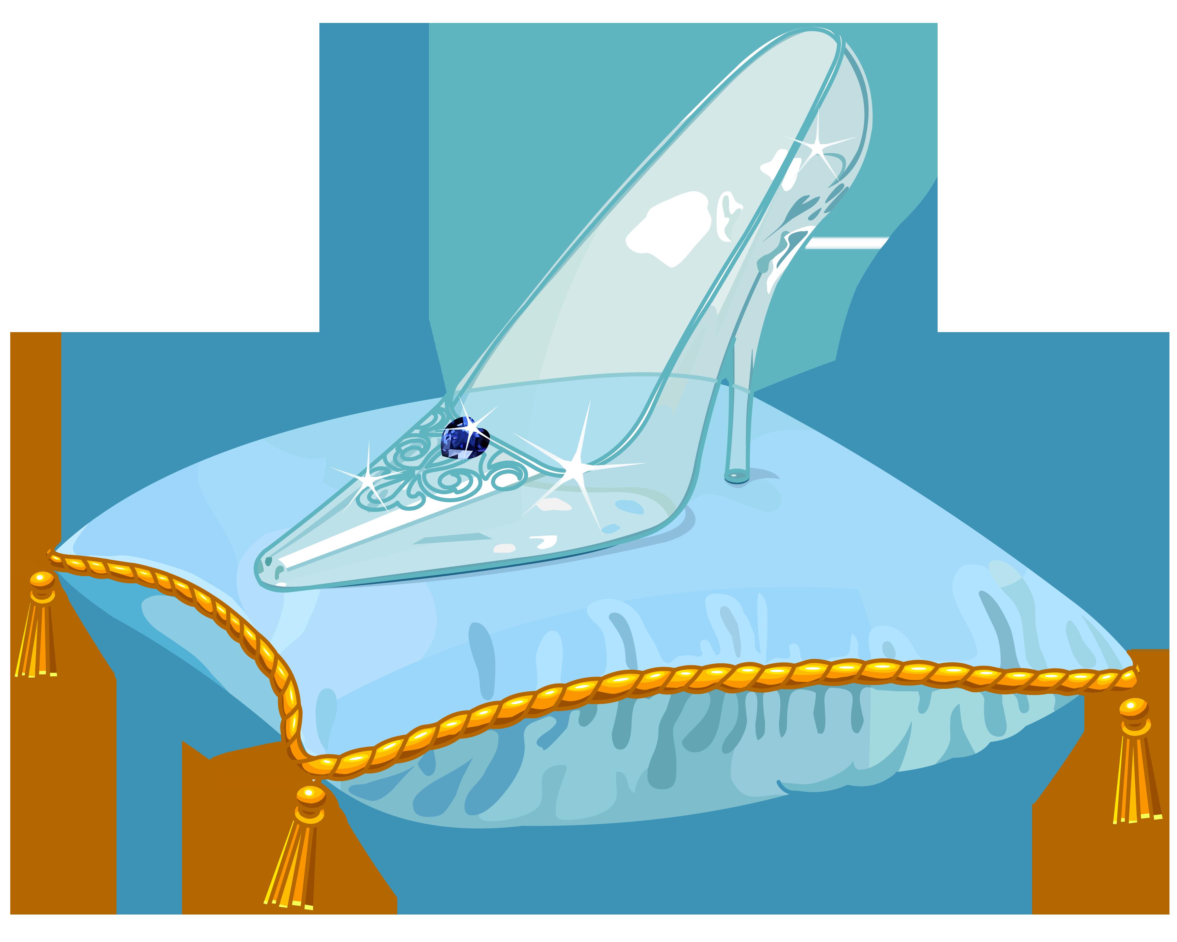 Heels clipart cinderella shoe. Slipper clip art glass