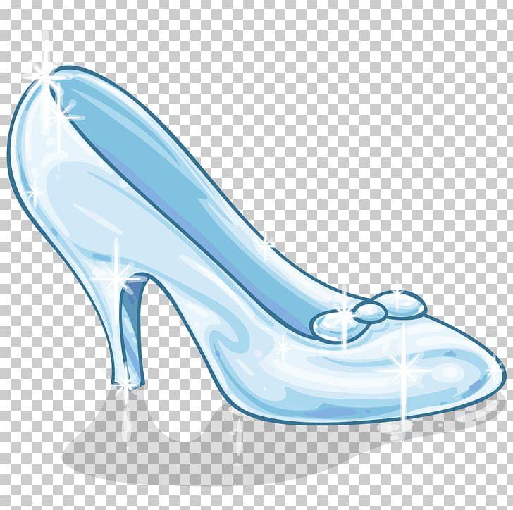 Slipper png aqua blue. Heels clipart cinderella shoe