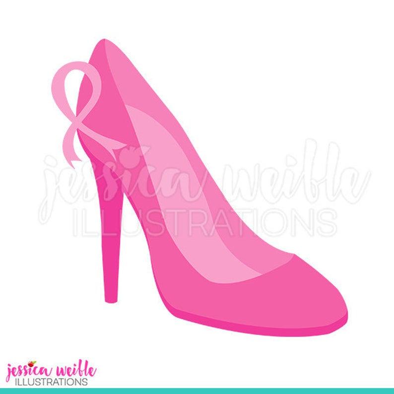 Heels clipart cute. Pink high heel digital