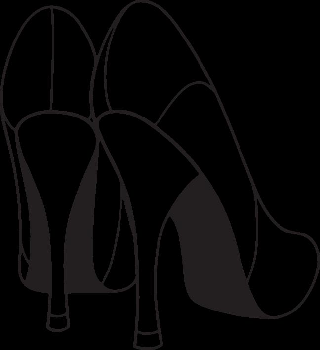 High heel shoe free. Heels clipart debutant