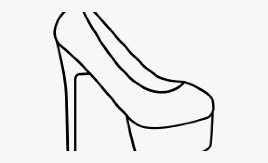Collection of free drawing. Heels clipart debutant