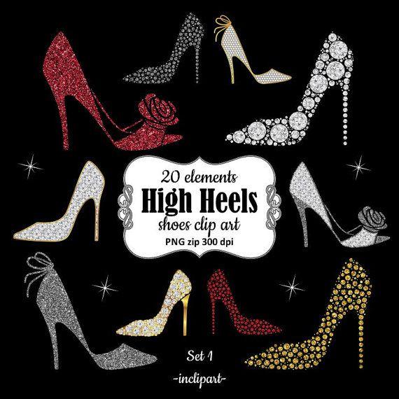 Heels clipart diamond. High heel shoes gold