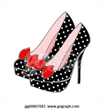 Of high heel shoes. Heels clipart drawing