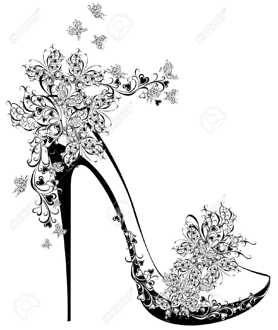 High heel shoe stock. Heels clipart drawing