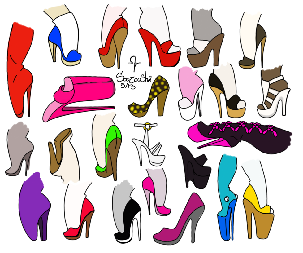 Heels clipart foot heel. High reference a by