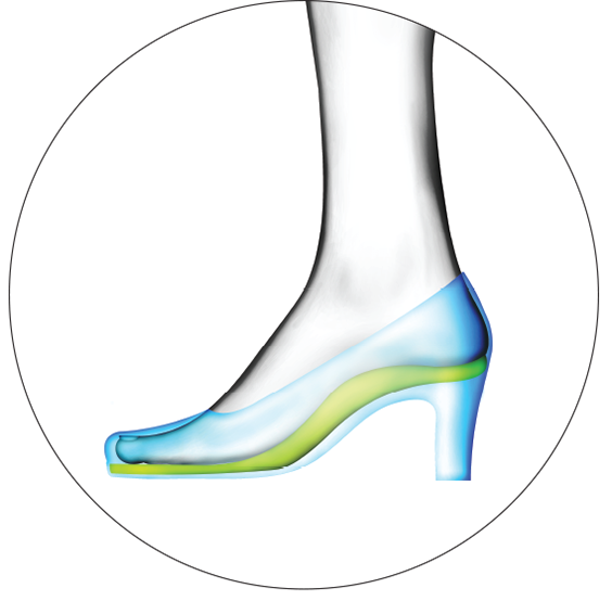Elevated technology support. Heels clipart foot heel