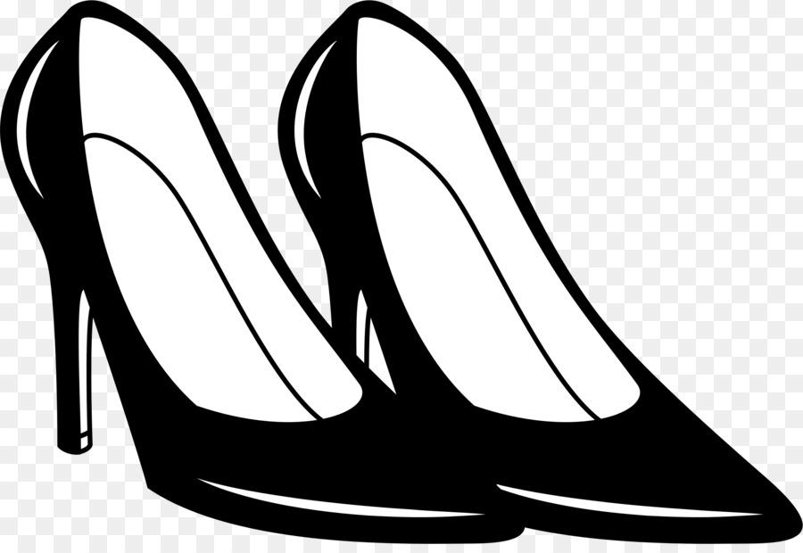 Heels clipart footware. Line cartoon white black