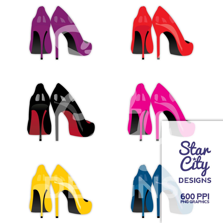 High heel shoe fashion. Heels clipart full