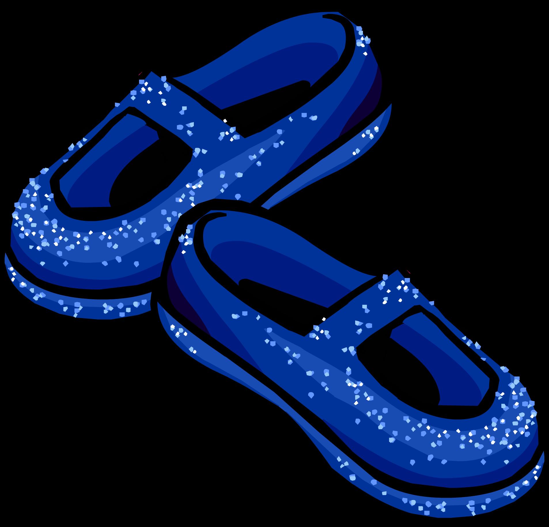 Blue stardust slippers club. Heels clipart glass slipper