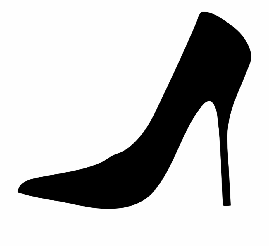 Heels clipart glass slipper. High png cinderella silhouette