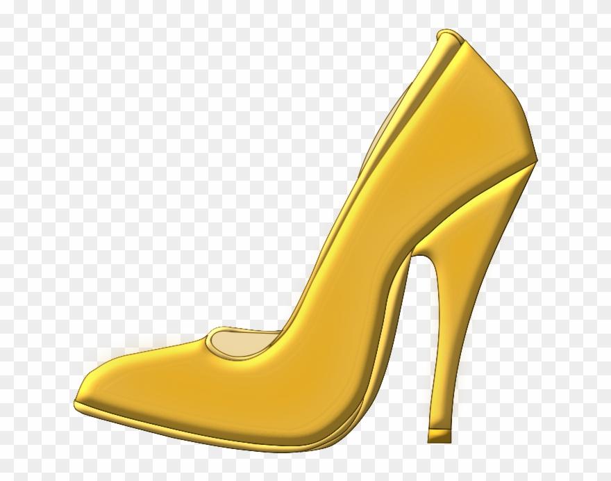 Black png download . Heels clipart golden shoe