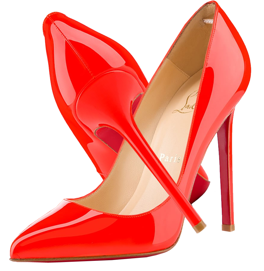 Christian louboutin pigalle flame. Heels clipart golden shoe