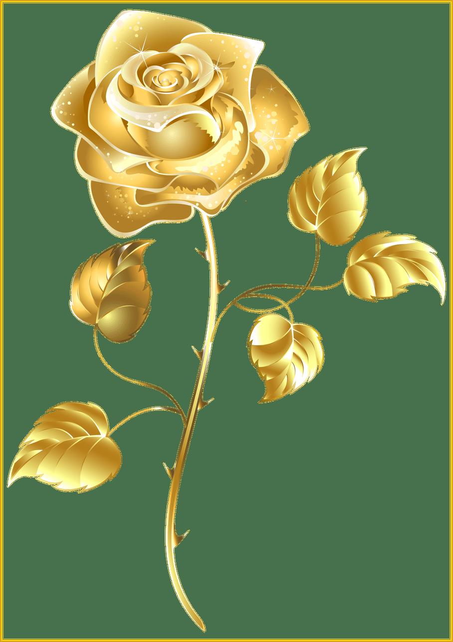 Heels clipart golden shoe. Incredible gold rose png