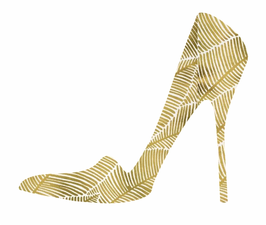 Heels clipart golden shoe. High images gold shoes