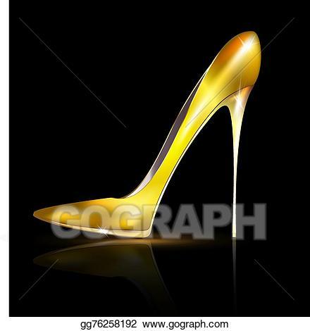 Heels clipart golden shoe. Vector stock illustration gg