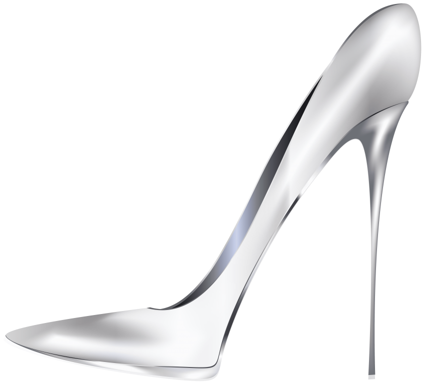Heels clipart golden shoe. White high png free