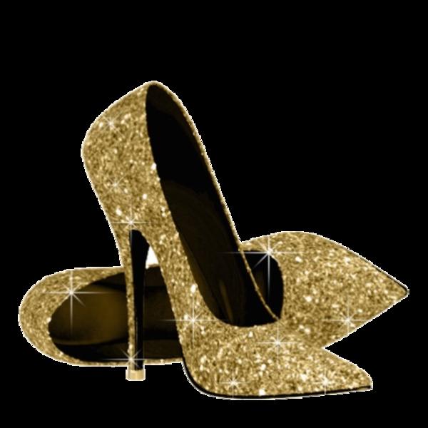 Heels clipart golden shoe. Gold shoes free images