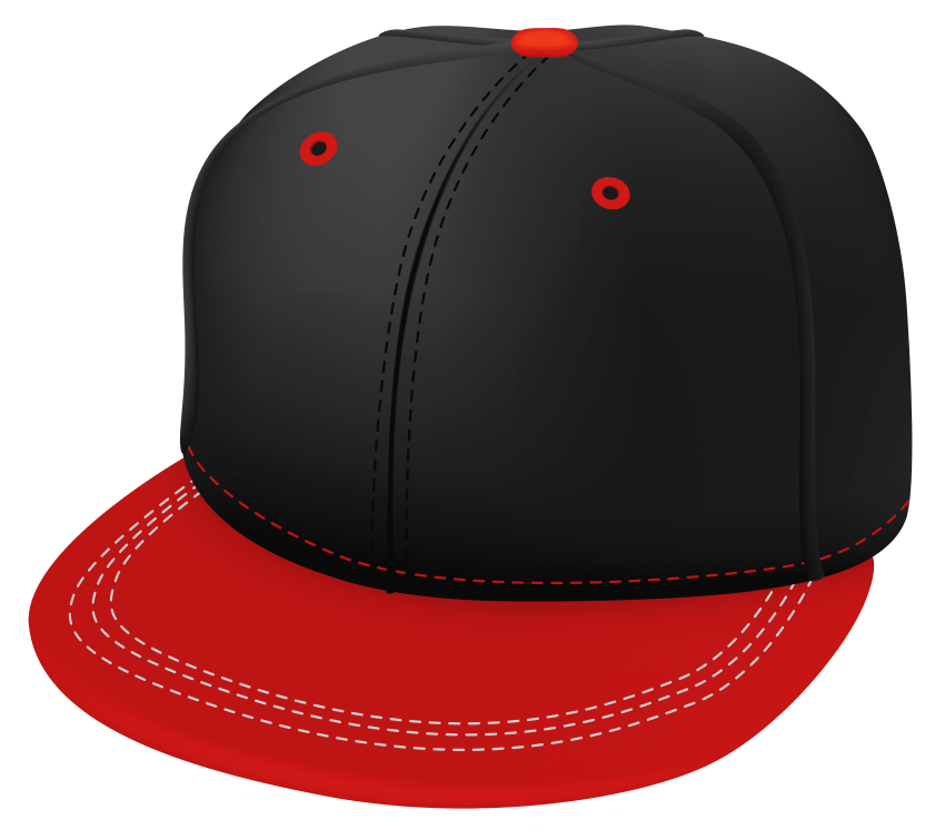 Red and black cap. Heels clipart hat