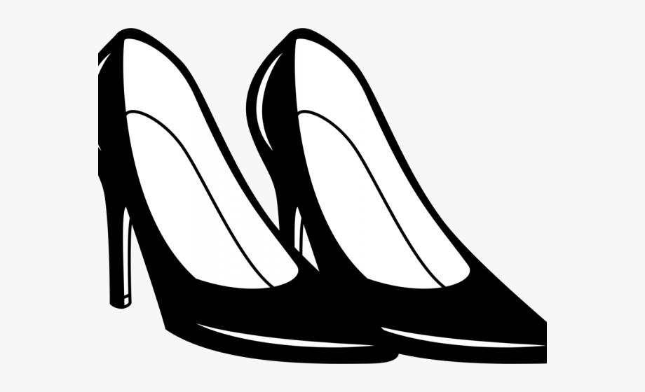 Heels clipart lady footwear. Women shoes shoe black