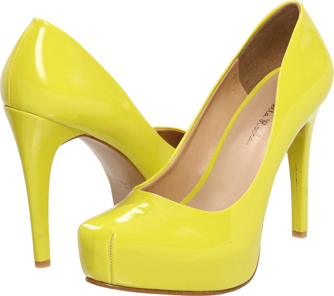 Heels clipart lady footwear. Yellow women shoe png