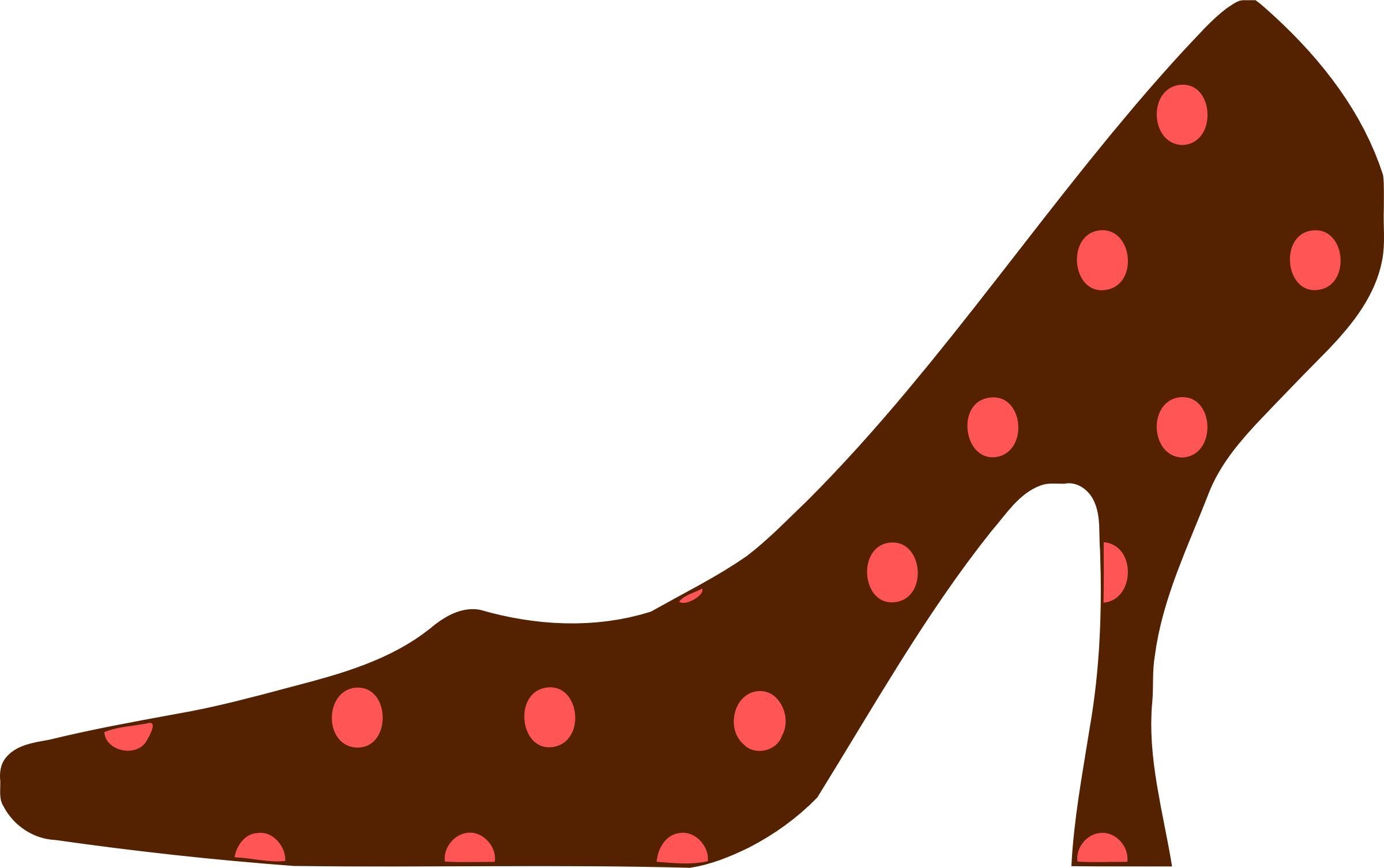 Shoe colour big image. Pink clipart heel