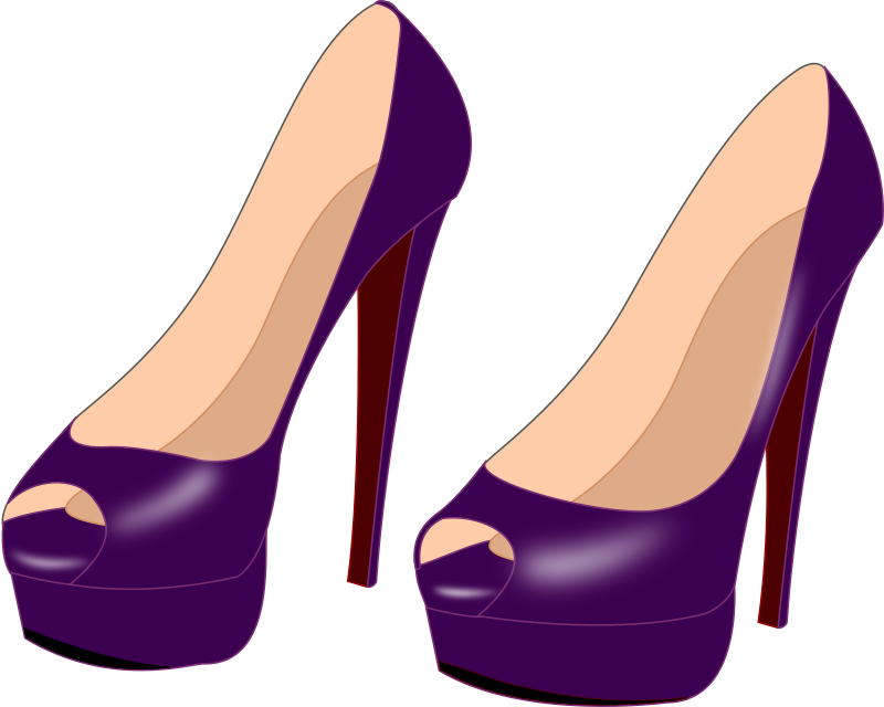 collection of purple. Pink clipart heel