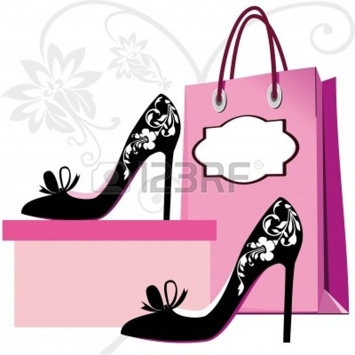 Heels clipart purse. Boutique silhouettes of women