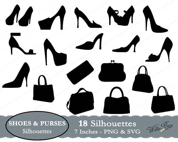 Svg shoe purses and. Heels clipart purse