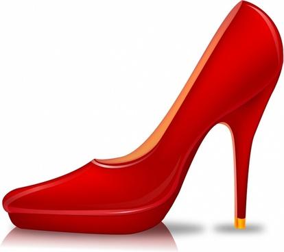 High shoe clip art. Heels clipart red heel