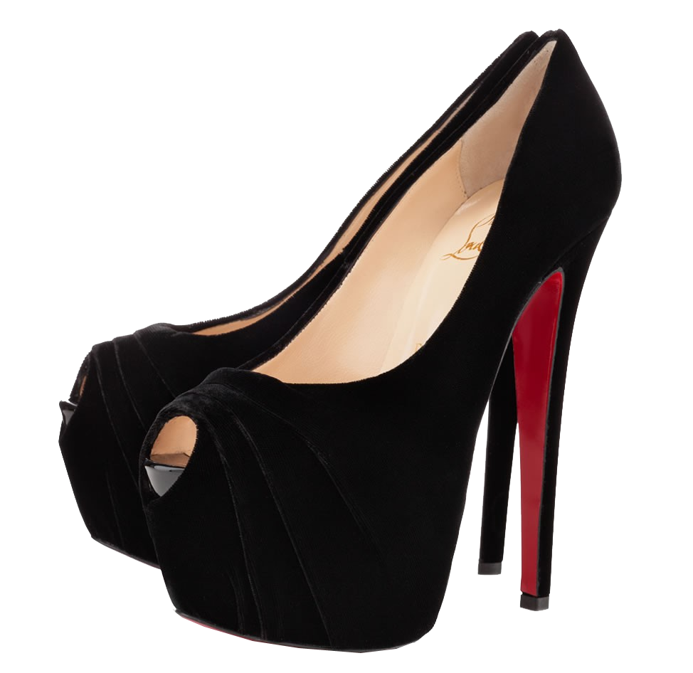 Heels clipart red sole. Christian louboutin black drapesse