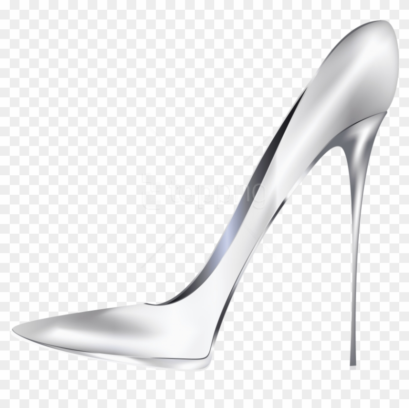 Free png download white. Heels clipart silver heel