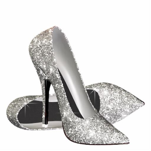 Heels clipart sparkly heel. Glitter