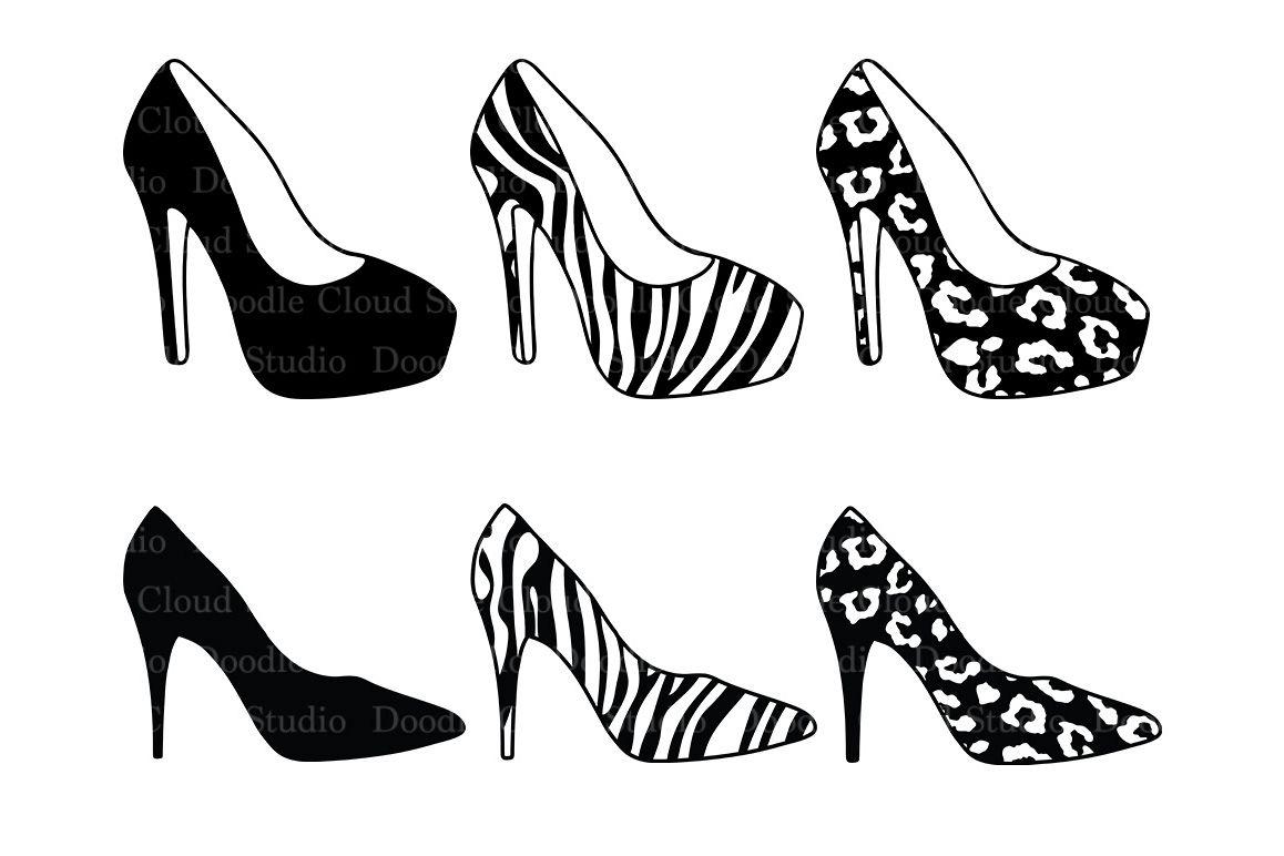 Womens high heel shoes. Heels clipart svg