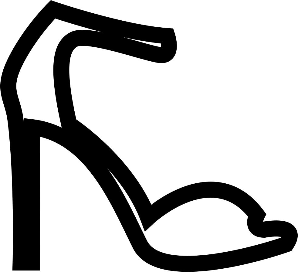 Summer high sandals a. Heels clipart svg