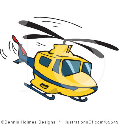 Black and white panda. Helicopter clipart